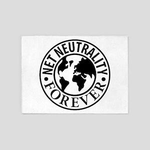 Net Neutrality Forever 5'x7'Area Rug
