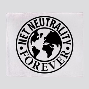 Net Neutrality Forever Throw Blanket