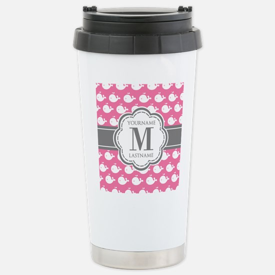 Pink and white whales p Stainless Steel Travel Mug