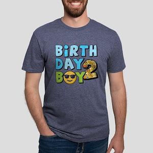 Emoji Birthday Boy Two Mens Tri-blend T-Shirt