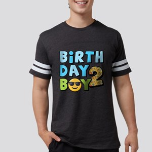Emoji Birthday Boy Two Mens Football Shirt