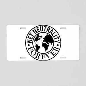 Net Neutrality Forever Aluminum License Plate