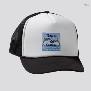 Dolphins Personalize Name : LOVE Kids Trucker hat