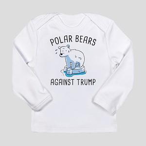 Polar Bears Against Trump Long Sleeve T-Shirt