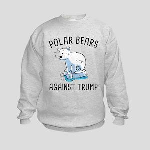 Polar Bears Against Trump Sweatshirt