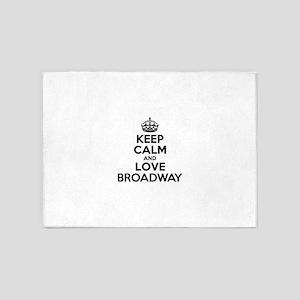 Keep Calm and Love BROADWAY 5'x7'Area Rug