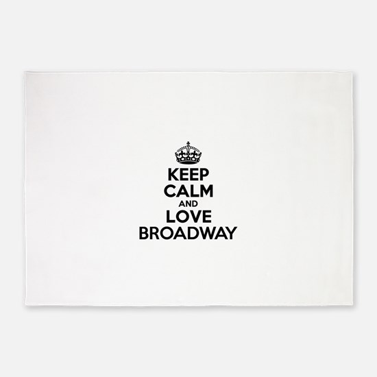 Keep Calm and Love BROADWAY 5'x7'Area Rug