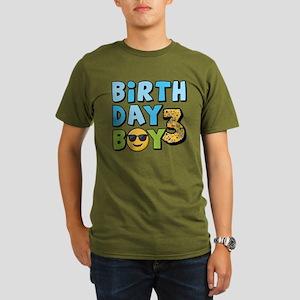 Emoji Birthday Boy Th Organic Mens T Shirt Dark