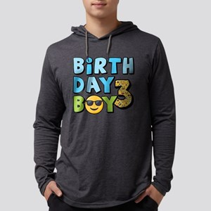 Emoji Birthday Boy Three Mens Hooded Shirt