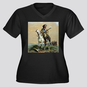 Buffalo Bill Vintage Painting Plus Size T-Shirt