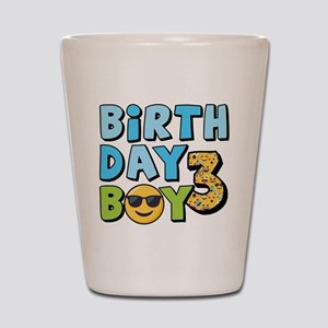 Emoji Birthday Boy Three Shot Glass