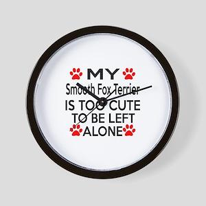 Smooth Fox Terrier Is Too Cute Wall Clock