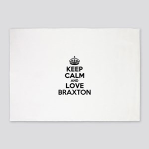 Keep Calm and Love BRAXTON 5'x7'Area Rug