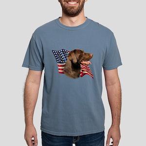 Chocolate Lab Flag T-Shirt