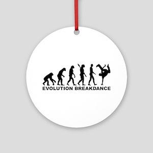 Evolution Breakdance Round Ornament
