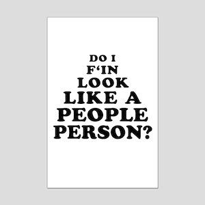 Rude People Person Mini Poster Print