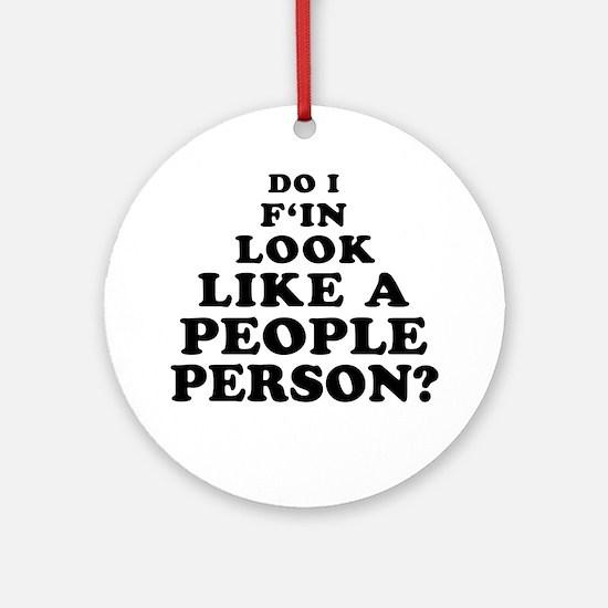 Rude People Person Ornament (Round)