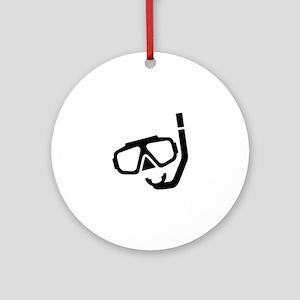 Scuba Diver Round Ornament