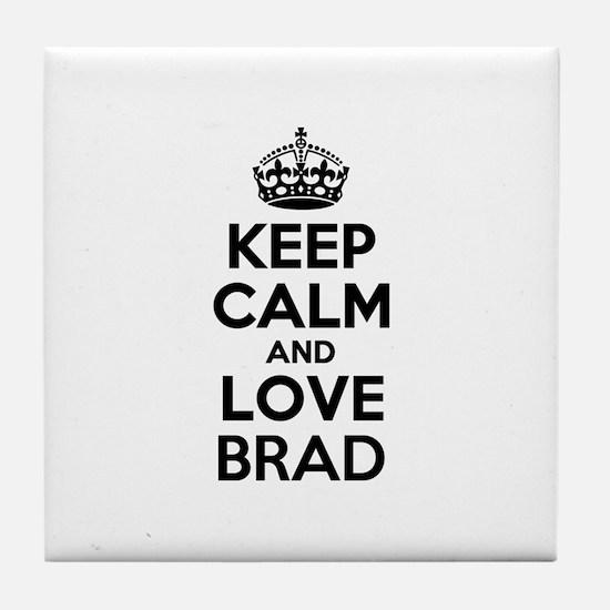 Keep Calm and Love BRAD Tile Coaster