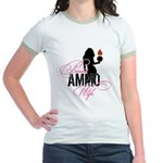 AMMO Wife with Piss Pot  Jr. Ringer T-Shirt
