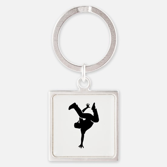 Breakdance Square Keychain