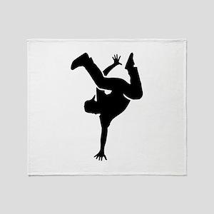 Breakdance Throw Blanket