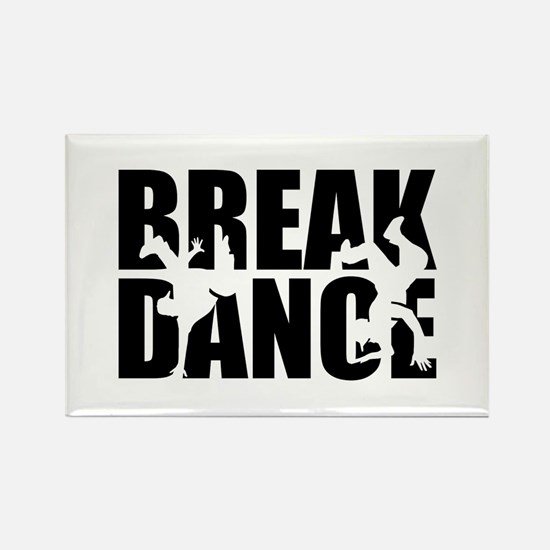 Breakdance Rectangle Magnet