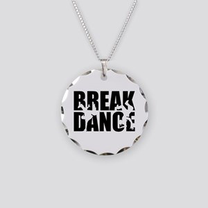 Breakdance Necklace Circle Charm