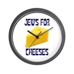 Jews for Cheeses Wall Clock