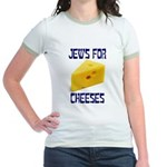 Jews for Cheeses Jr. Ringer T-shirt