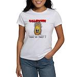 Halloween Skull Fire Trick or Women's T-Shirt