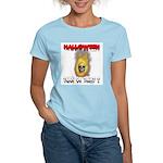Halloween Skull Fire Trick or Women's Light T-Shir