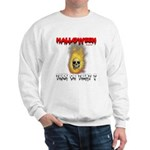 Halloween Skull Fire Trick or Sweatshirt