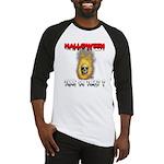 Halloween Skull Fire Trick or Baseball Jersey