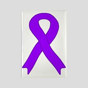 Violet Ribbon Rectangle Magnet