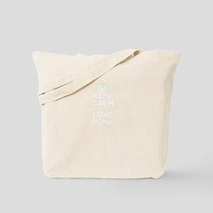 Keep Calm and Love BONK Tote Bag