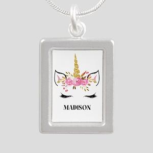 Unicorn Face Eyelashes Personalized Gift Necklaces