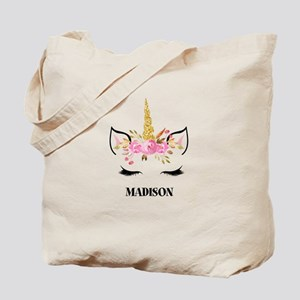 Unicorn Face Eyelashes Personalized Gift Tote Bag