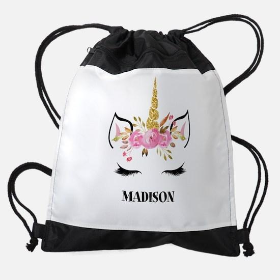 Unicorn Face Eyelashes Personalized Gift Drawstrin