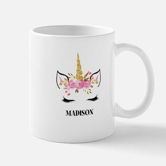 Unicorn Face Eyelashes Personalized Gift Mugs