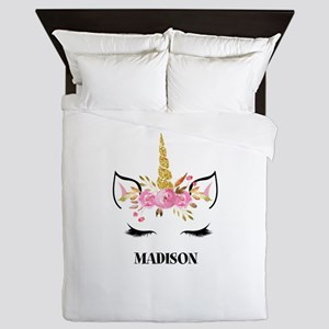 Unicorn Face Eyelashes Personalized Gift Queen Duv