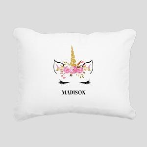 Unicorn Face Eyelashes Personalized Gift Rectangul