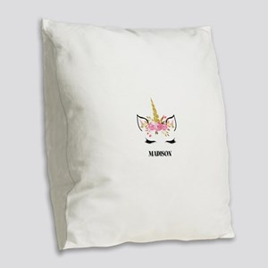Unicorn Face Eyelashes Personalized Gift Burlap Th
