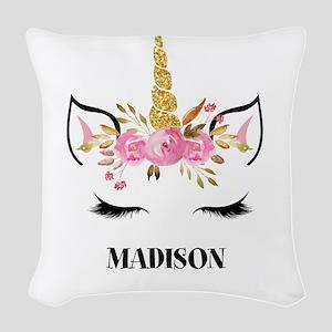 Unicorn Face Eyelashes Personalized Gift Woven Thr