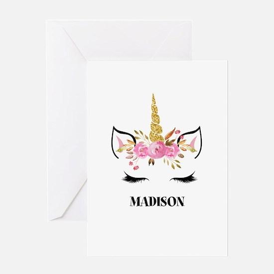 Unicorn Face Eyelashes Personalized Gift Greeting