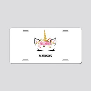 Unicorn Face Eyelashes Personalized Gift Aluminum