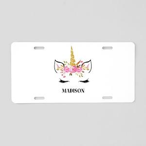 Unicorn Face Eyelashes Personalized Gift Aluminum