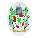 Serpy Oval Ornament