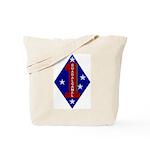 1st Marine Division Tote Bag