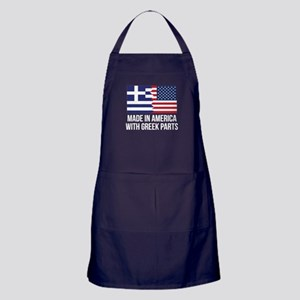 Made In America With Greek Parts Apron (dark)